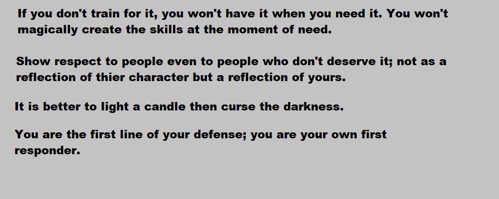 Philosophical sayings